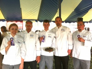 Sullivan University chefs who won scholarship money in the Lamb Cook-Off.