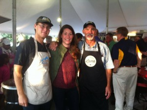Alison Lundergan Grimes with Jim Mansfield at the Commodity breakfast at the KY State Fair.